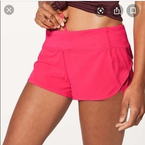 RARE pink lululemon speed shorts